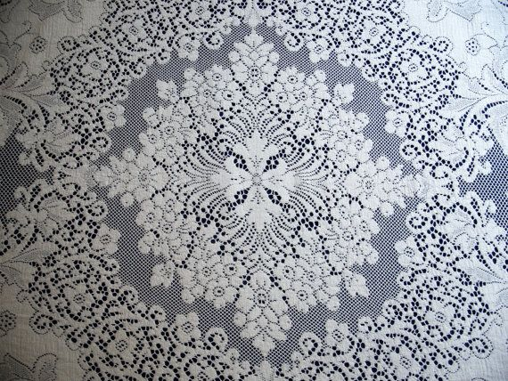 Oval Vintage Quaker Lace Tablecloth 4370 By TheWindmiller On Etsy