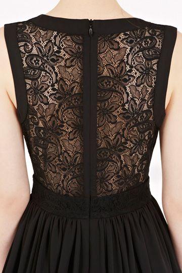 back, black lace