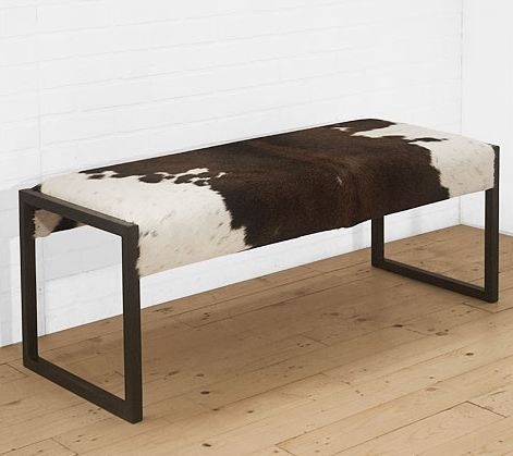 Brown Cowhide Benches Cowhide Bench Option Cowhide Bench Cowhide Decor Furniture