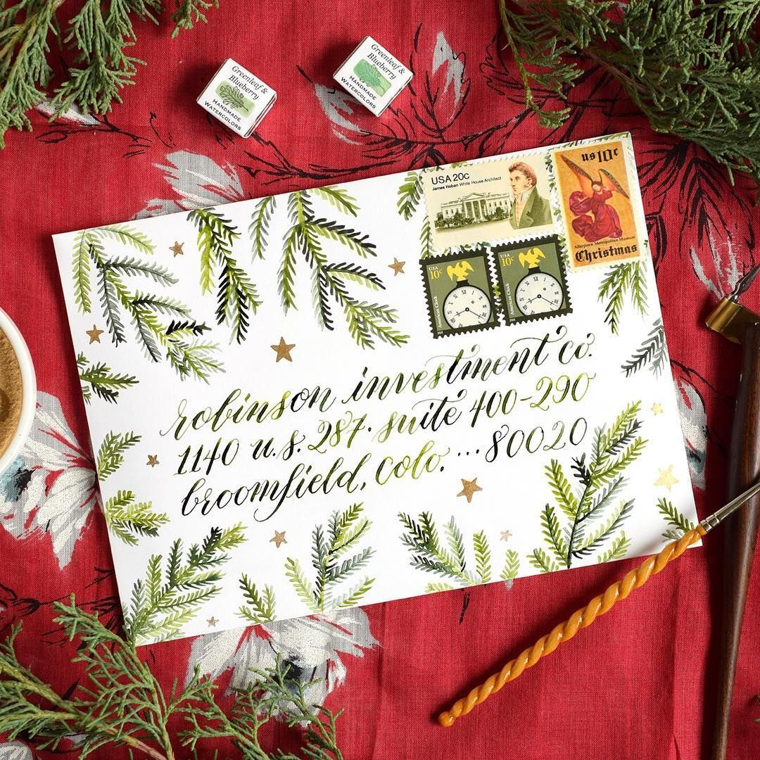 This winter mail art concept is eye-catching and enjoyable to create ...