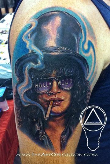72e4cf73264db Tattoos - Slash Guns N Roses Tattoo | Tattoo | Tattoos, Rose tattoos ...