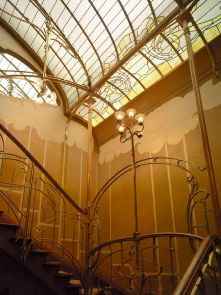 Trappenhuis in woonhuis en atelier van Horta, nu Horta museum