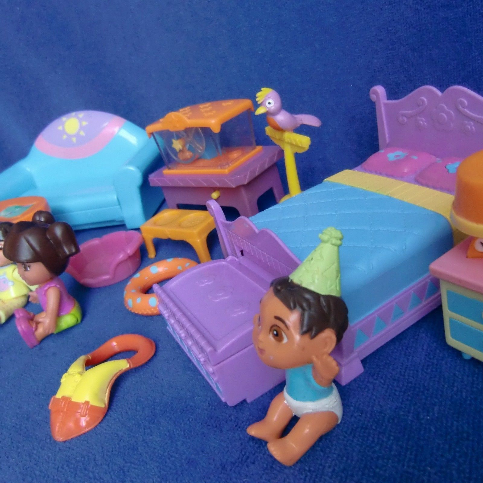 Dora Dollhouse 10+ Furniture Doll OK Sofa Bed Table Hamster Bird Baby  Explorer | EBay