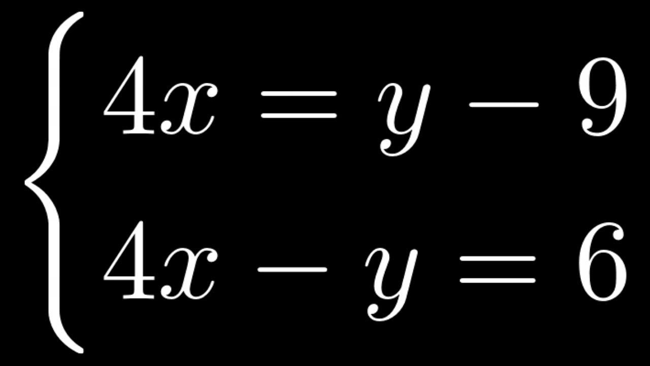 49 Solve The System Of Equations By Substitution An Example With No So Systems Of Equations Equations Math Videos