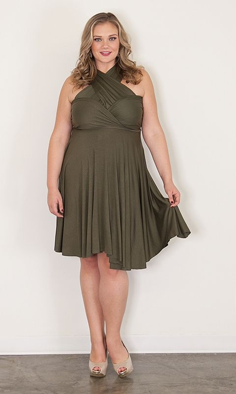 83e955fb88e ... plus sizes. Eternity Convertible Dress – Olive at Curvaliciousclothes  Convertible Dress