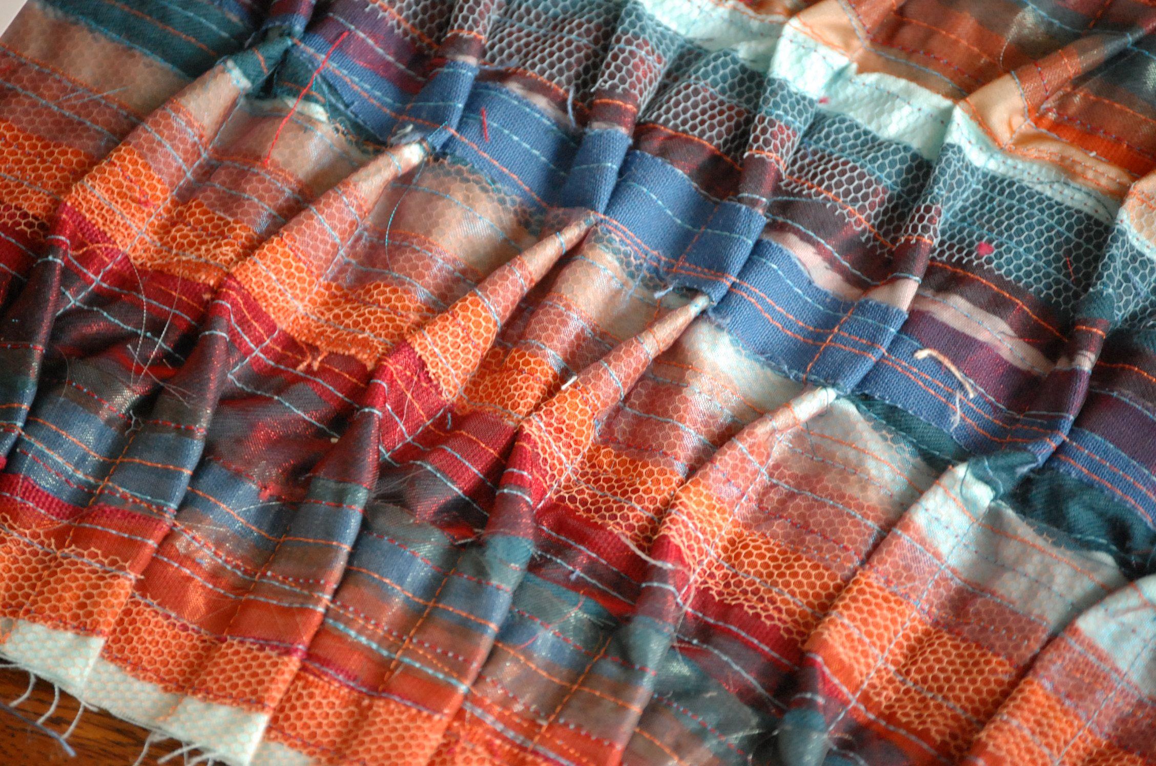 Hayley Olivia Watkins textile designs. Handmade textiles
