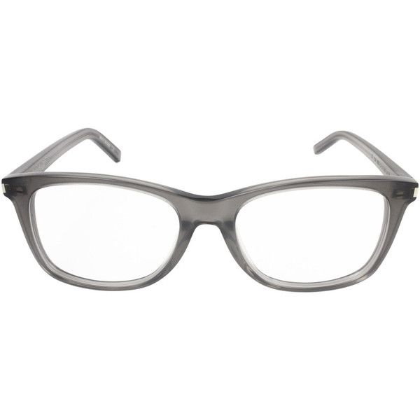 41d3aeb055 Saint Laurent Women s SL90 Gray Clear Lens Glasses ( 199) ❤ liked on  Polyvore featuring