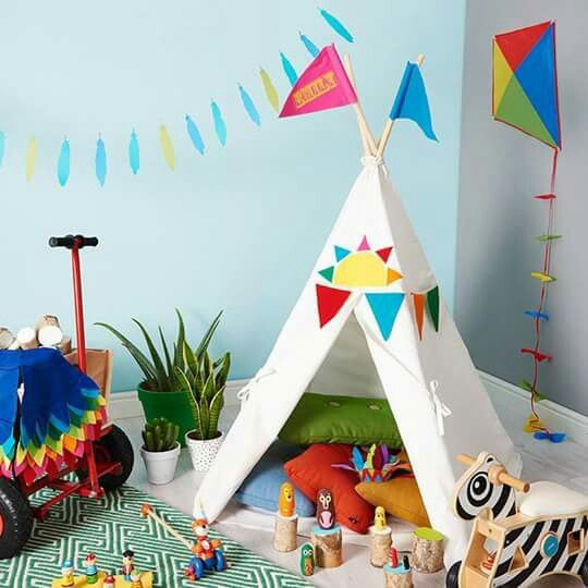 Are you interested in our play teepee rainbow den? With our personalised play teepee you need look no further.  sc 1 st  Pinterest & Pin by Kaitlyn Sterl on Playroom | Pinterest | Backyard kids ...