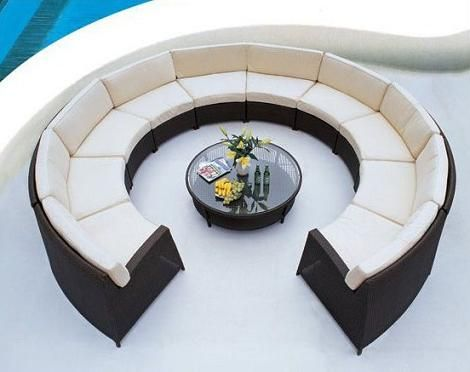 Round Pond Outdoor Sectional Sofa Set From Caluco