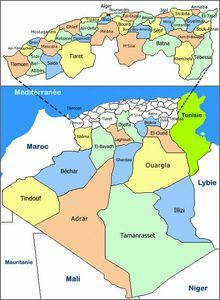 Carte Algerie Niger.Carte Algerie Departement Algerie In 2019 Map