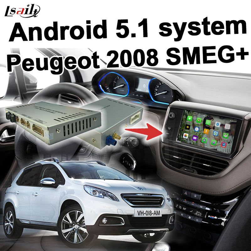 android gps navigation box video interface for peugeot 2008 mrn smeg system with cast screen. Black Bedroom Furniture Sets. Home Design Ideas