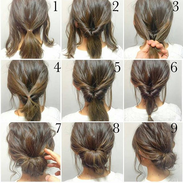 Easy And Quick Hairstyle Is Perfect For Weekday Morning 3 Mins Needed Try It Next Morning Braids Cute Hai Hair Styles Short Hair Styles Long Hair Styles
