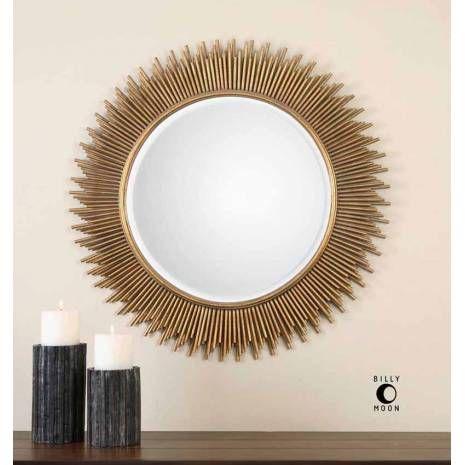 Decorative Gold Mirrors. Decorative walls Uttermost Marlo Gold Sunburst Tubes Round Mirror  mirrors