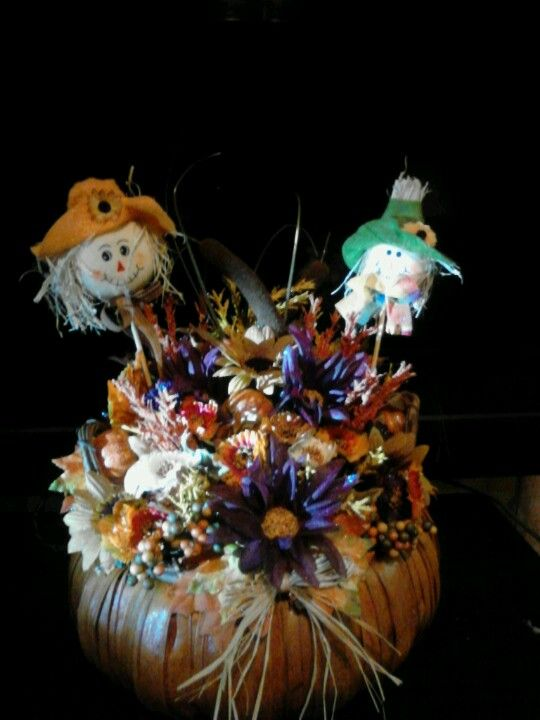 Autumn basket with lights