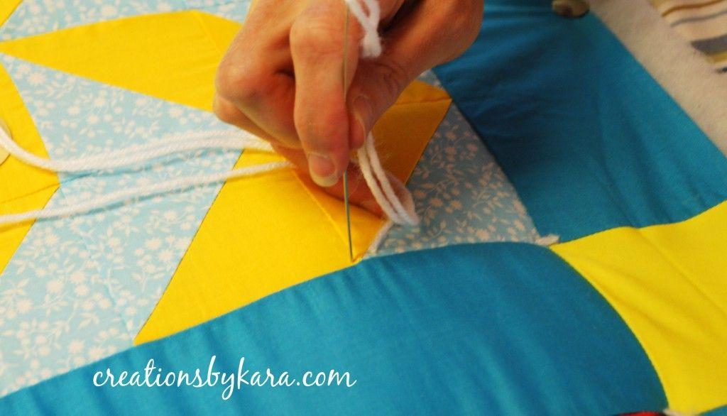 Tie quilt tutorial sewing pinterest tie quilt quilt tutorials tie quilt tutorial ccuart Image collections