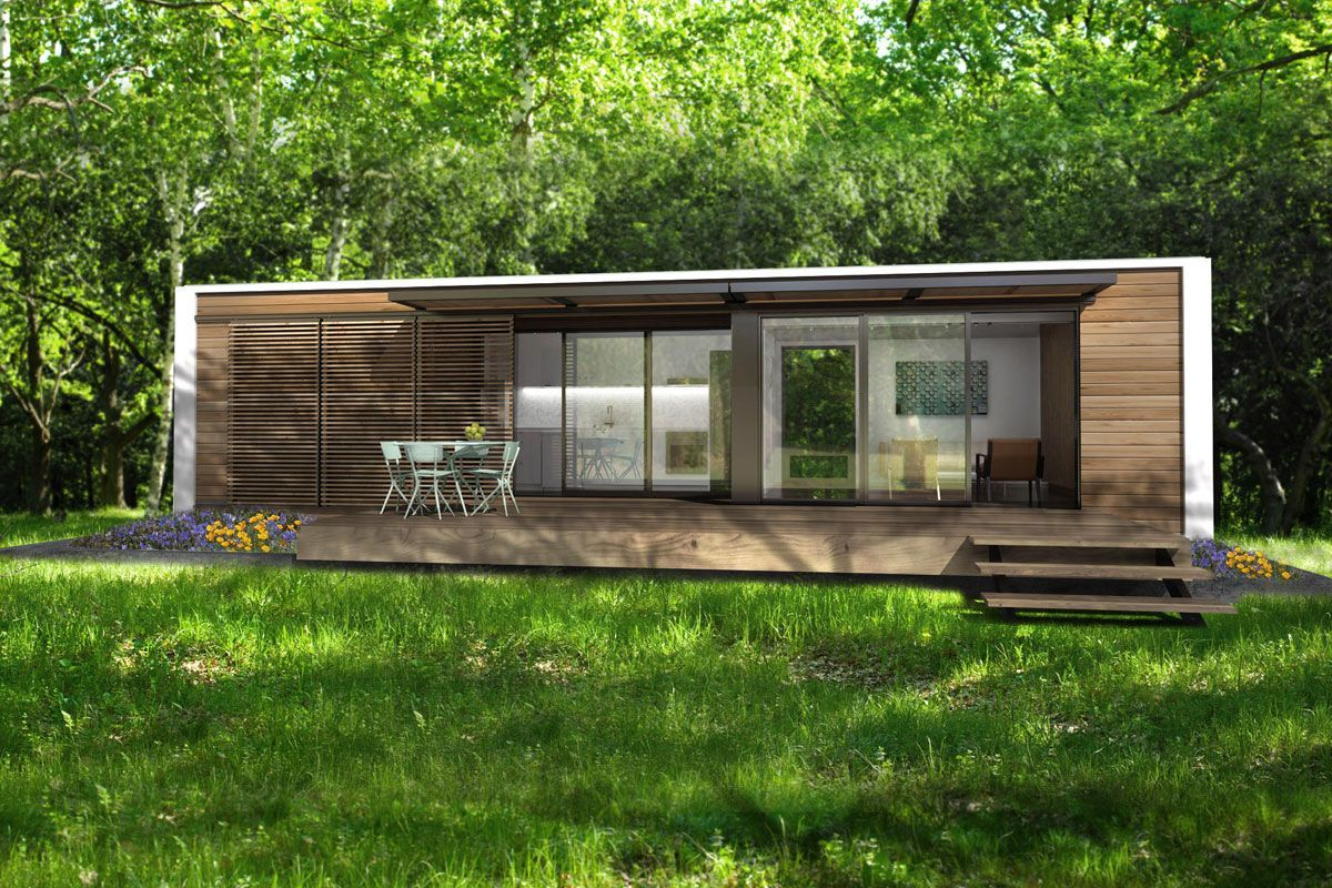 Eco friendly tiny house the colorful tiny home is only 140 Small eco home plans