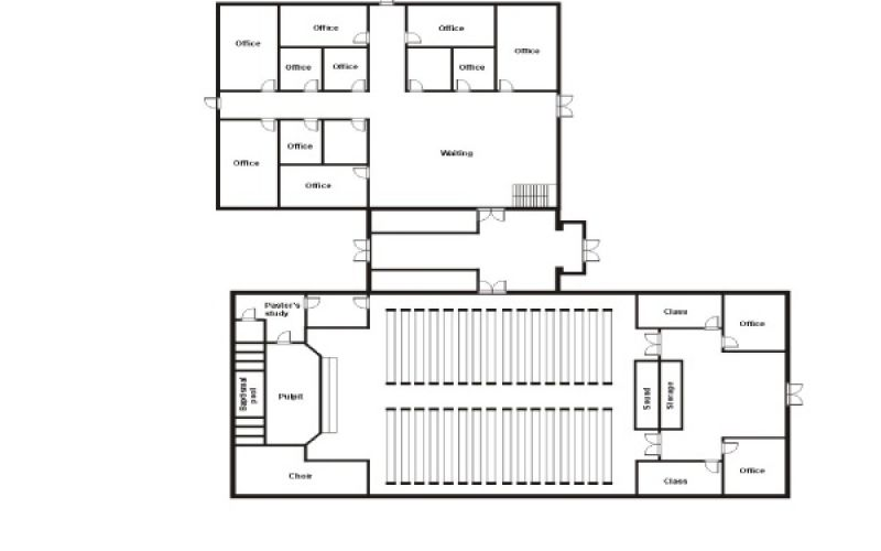 Church building floor plans gen steel new church ideas for Church building designs