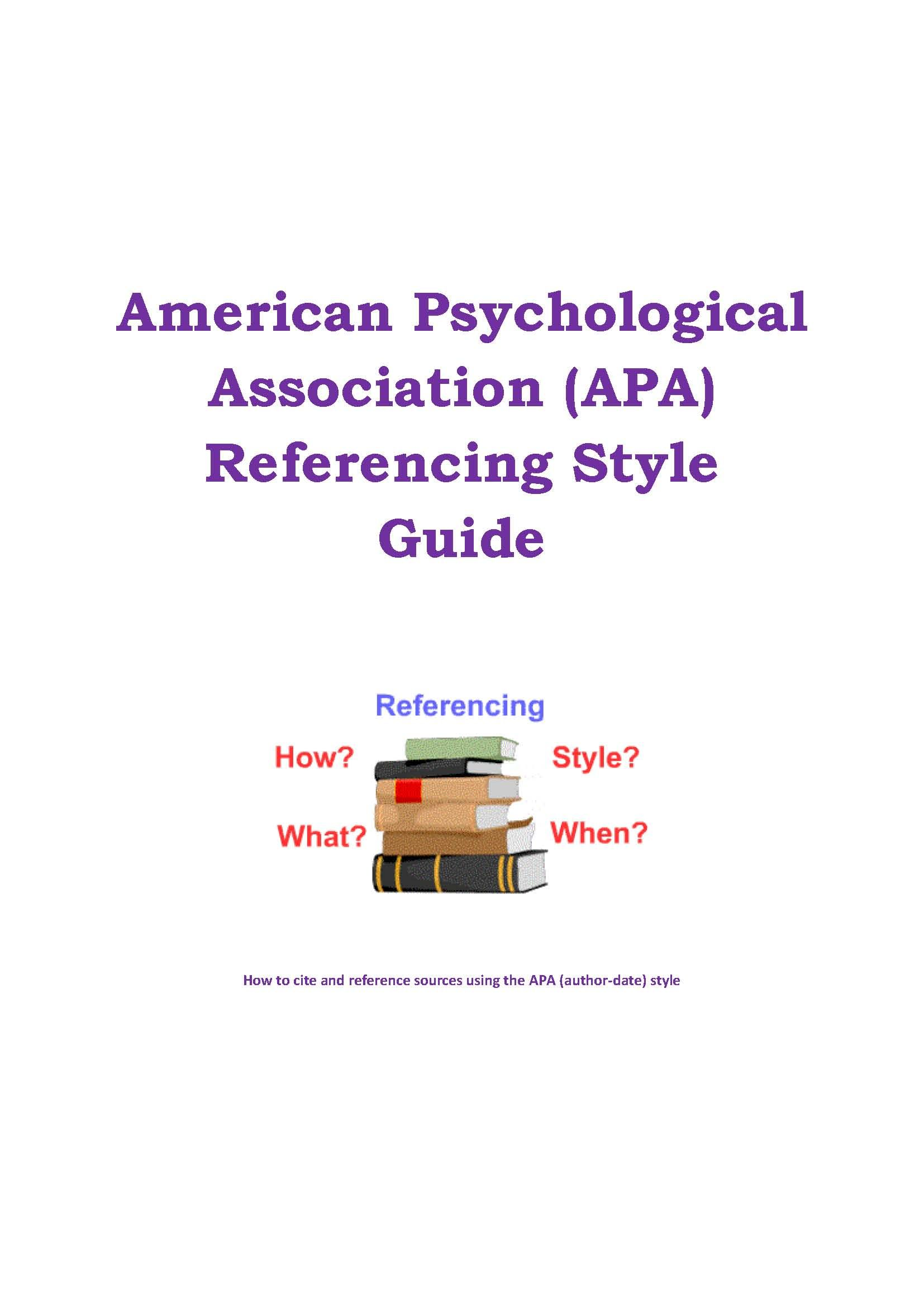 American Psychological Association Apa Referencing Style Guide Guides How To Cite A Book With Multiple Author