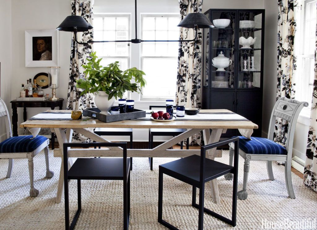 A 1920s Ann Arbor Colonial Gets An Understated Makeover White Dining RoomsDining Room DrapesDining