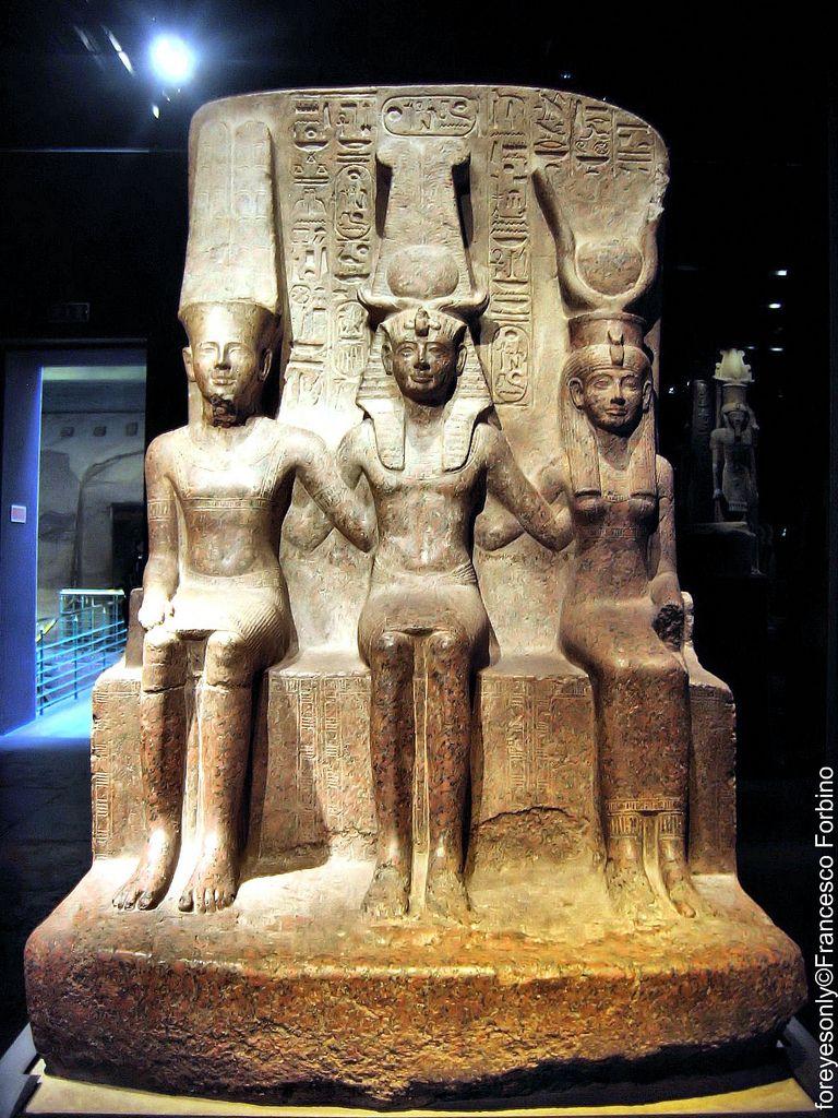 Rams s ii entre mut y am n museo egipcio de tur n for Mural egipcio