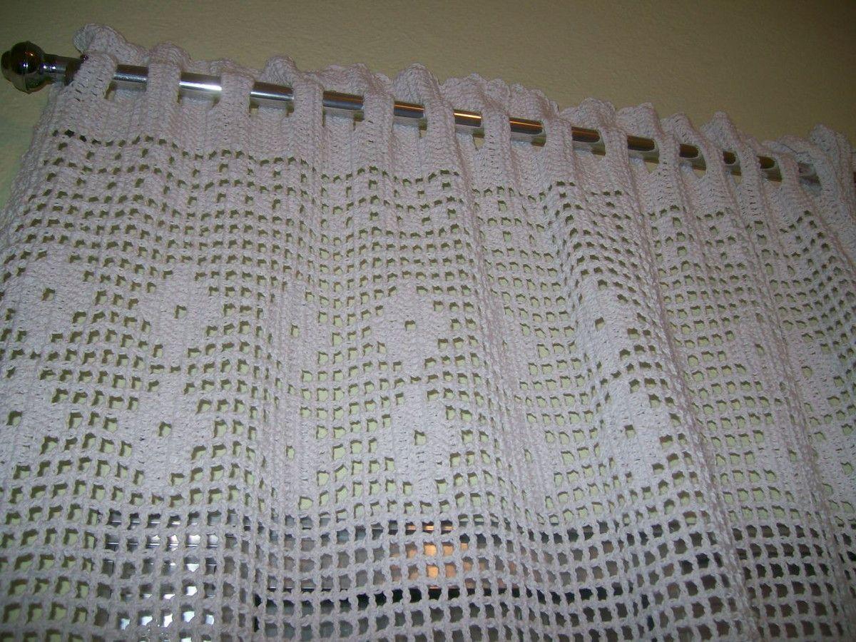 Cortina Em Croch Com Barbante Em V Rias Cores 02 Lados Cortina
