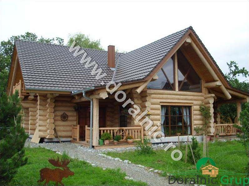 Case Din Busteni Cabane Din Lemn Proiecte Case Lemn Rotund Rustic House Log Homes Exterior House In The Woods