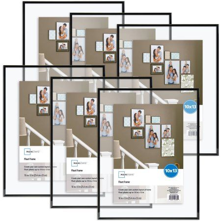Mainstays 10x13 Flex Float Frame Set Of 6 Walmart Com Floating Picture Frames Gallery Wall Frames Floating Frame