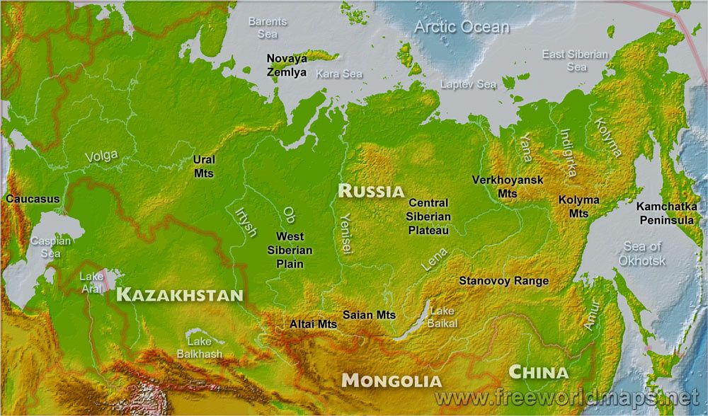 Russia Mountains Map - Bing Images | Russia 211 | Russia, Map ...