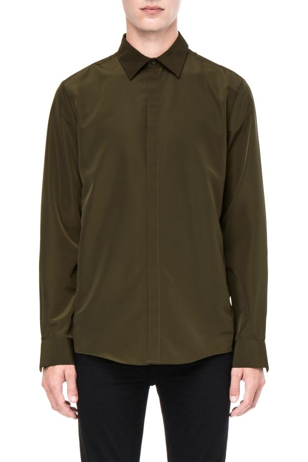 Weekday image 2 of Box shirt in Khaki Green