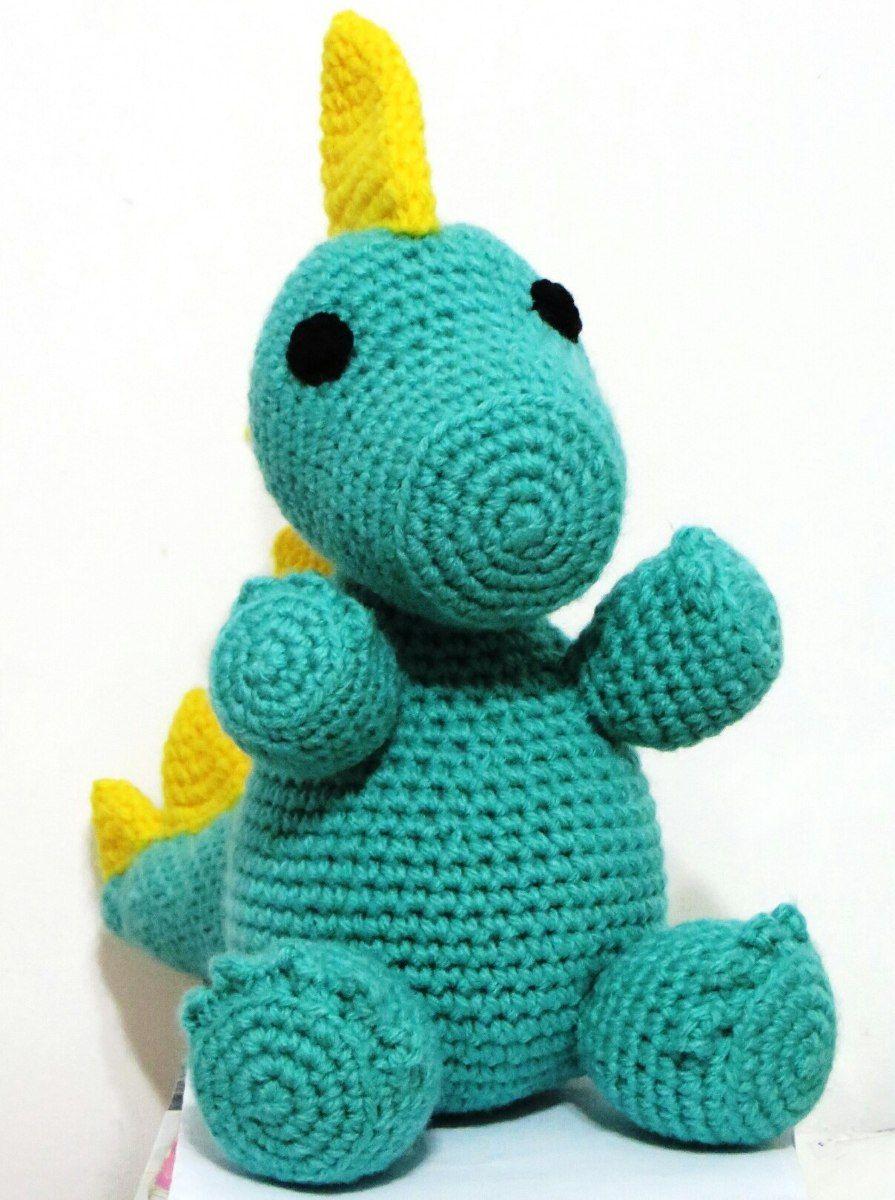 Tutorial Amigurumi Dinosaurio : Dinosaurio Amigurumi - Tejido Al Crochet - Original Regalo ...