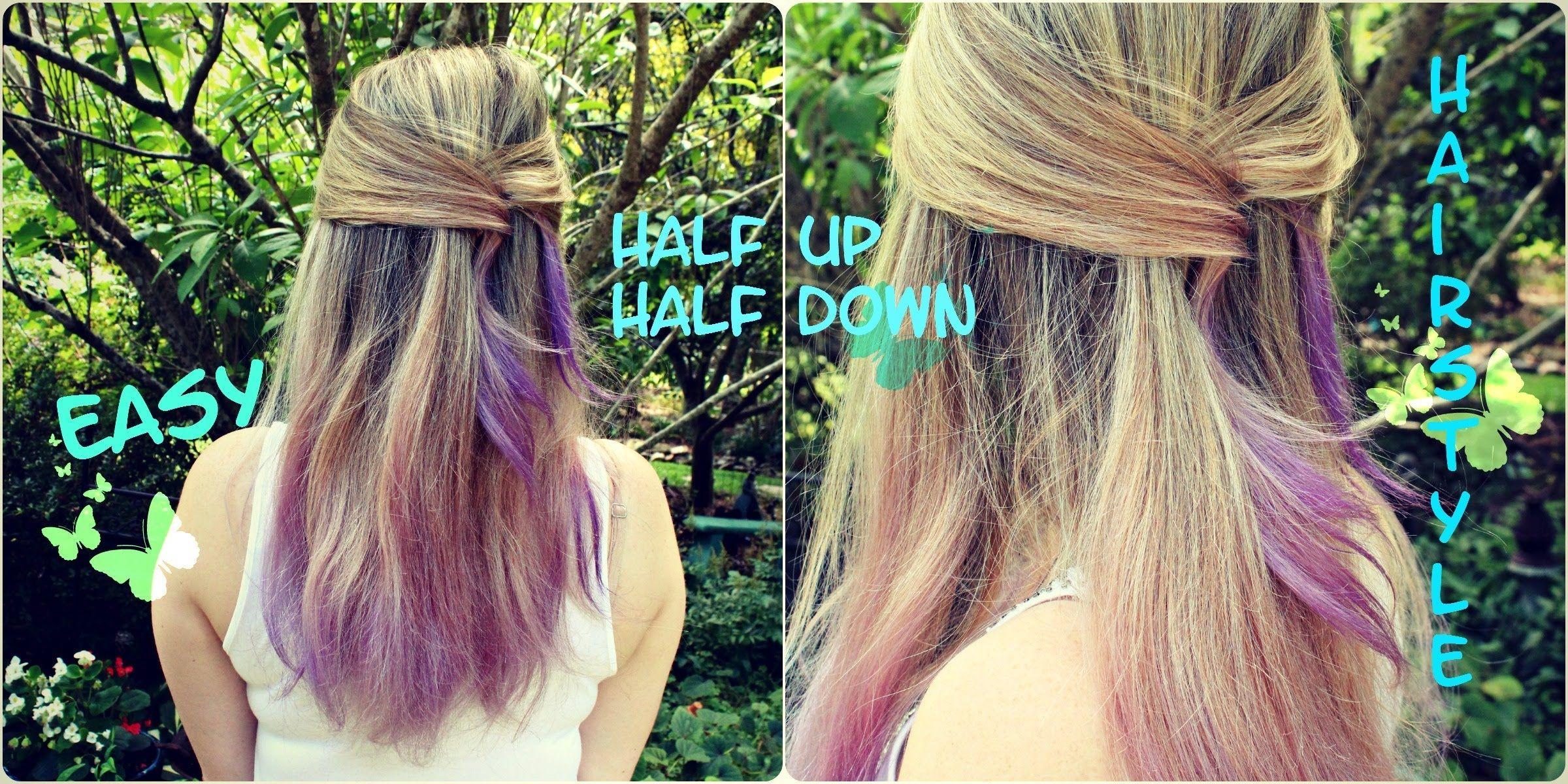 Easy diy hairstyle perfect for shoulder length medium or long hair