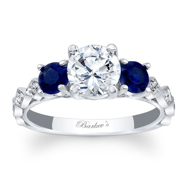 Barkev's Blue Sapphire Engagement Ring 7973LBS