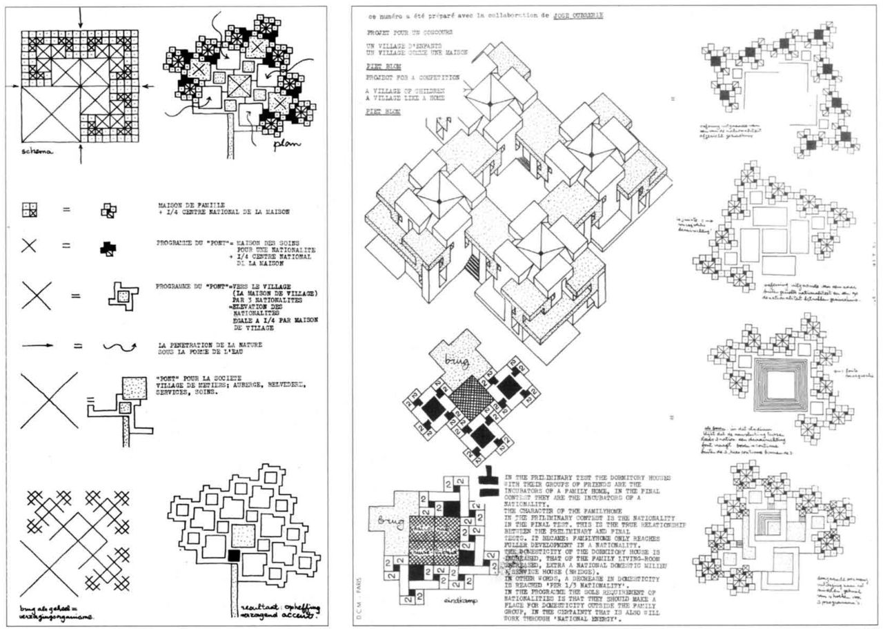 """Project for a competition, """"A Village of Children. A"""