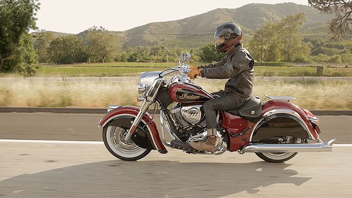 Cruisin' with the new Indian Motorcycle Red and Thunder Black two-tone paint.