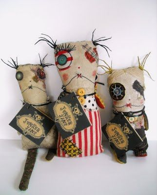 A little creepy - but love these dolls by Junker Jane anyway.
