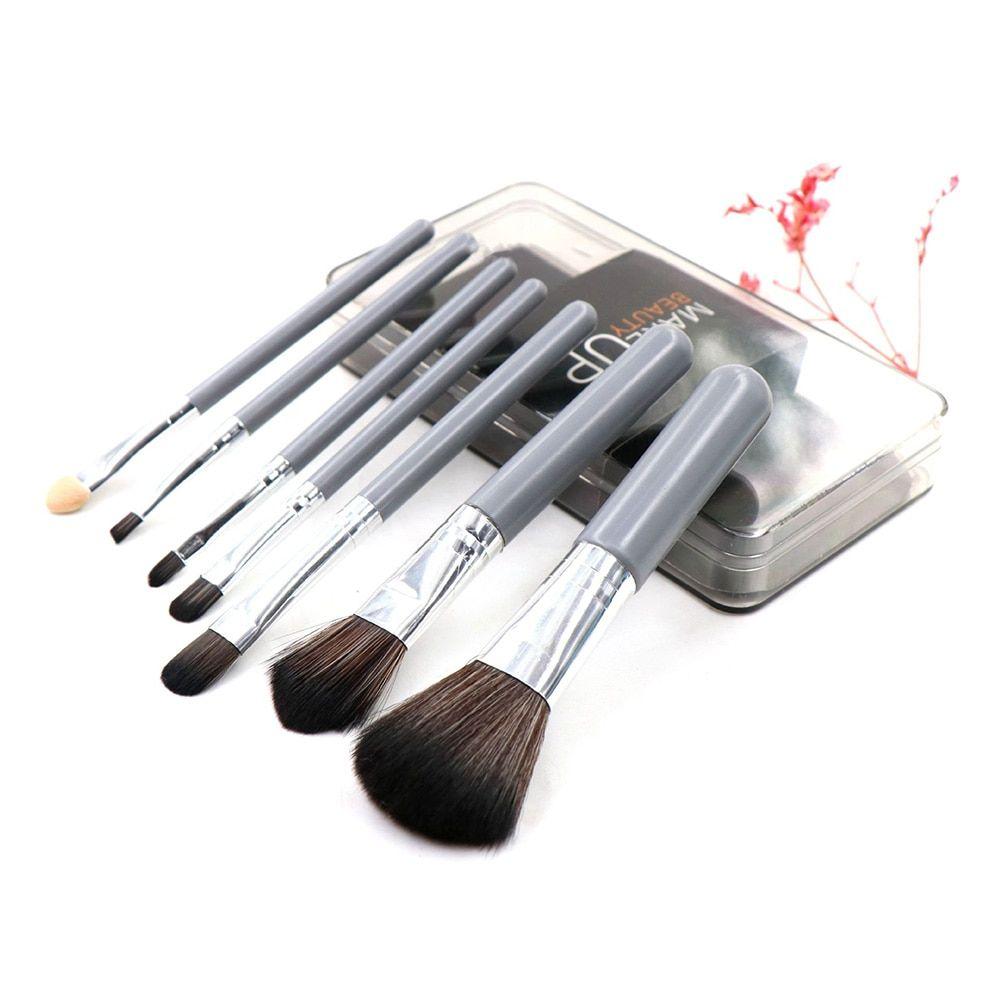 7 Stück Make-Up Pinsel Set Hohe Qualität Foundation Pulver Lidschatten Pinsel mit Kunststoff Boxed Kosmetische Schönheit Werkzeug Kit Hot – gray,china