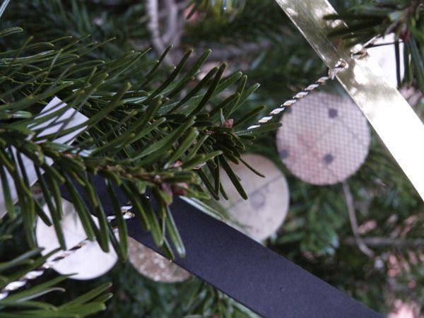 Sapin De Noël Noir Blanc Et Or Couture Turbulences