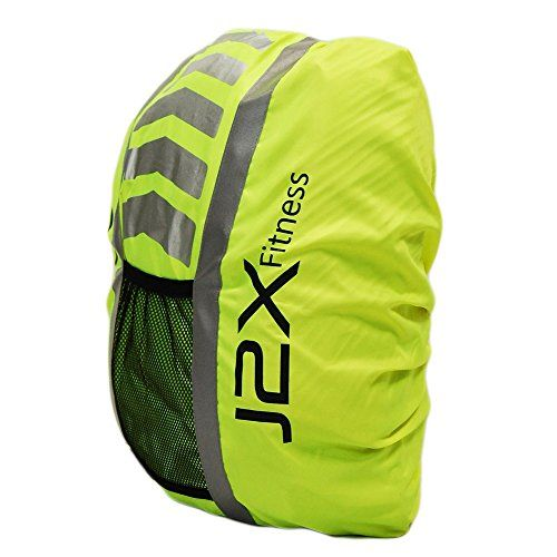 b750ddf6d48f J2X Fitness High Visibility Hi Viz Rucksack Backpack Waterproof Cover