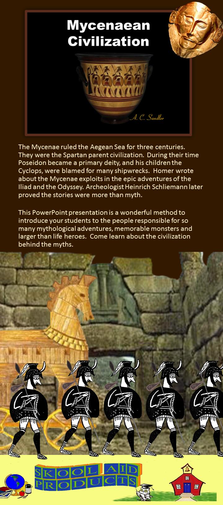 Ancient Greece Mycenaean Civilization Powerpoint Presentation