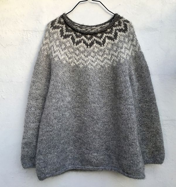Twilight pattern by Lone Kjeldsen | Dark, Fair isles and Knit crochet