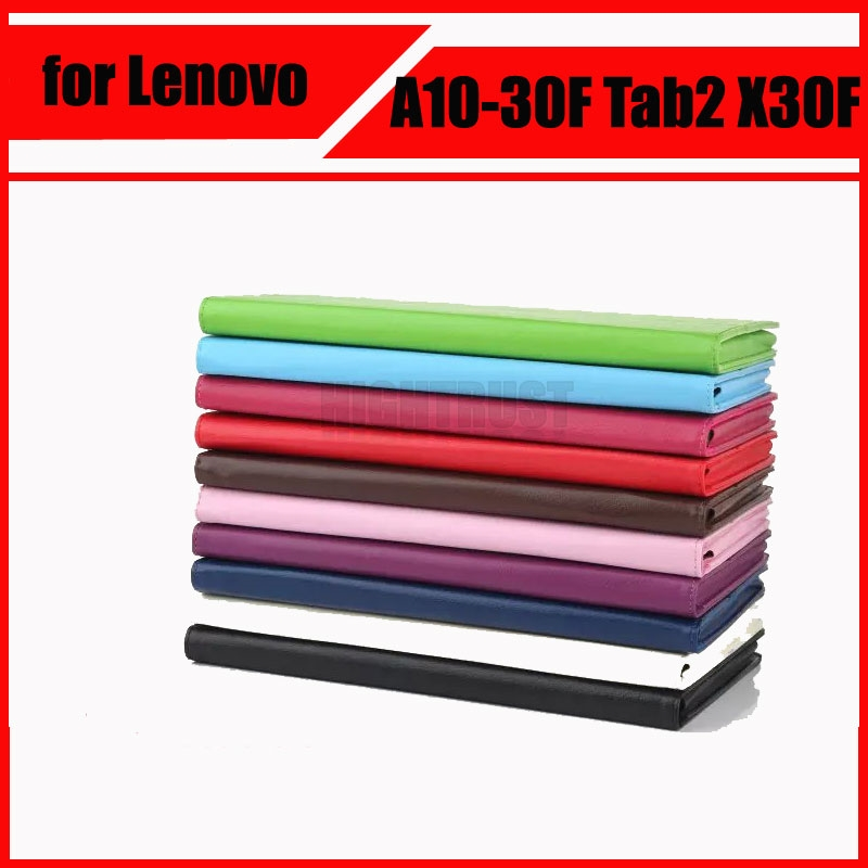 7.64$  Watch now - http://ali3bs.shopchina.info/go.php?t=32775747808 - High Quatily PU Leather Cover Stand Case for Lenovo Tab 2 A10 30 A10-30 A10-30F Tab2 X30F tablet case + Screen Protectors 7.64$ #buymethat