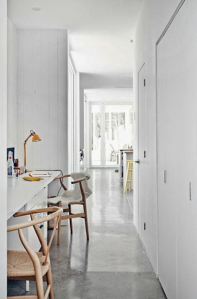 hallway office ideas. Blue Hills House / La SHED Hallway Workspace Office Ideas