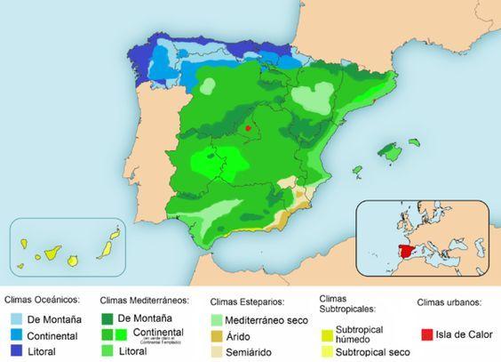 Clima De España Wikipedia La Enciclopedia Libre Spain Spain And Portugal Map