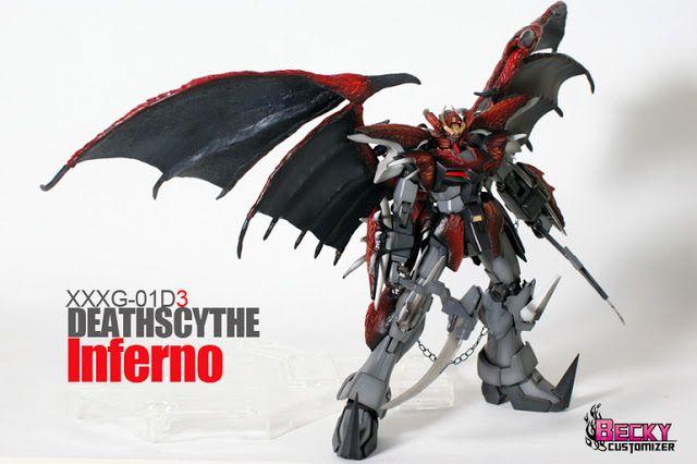 "MG 1/100 Gundam Deathscythe Hell Custom ""Inferno"" Custom Build | Gundam Kits Collection News and Reviews"