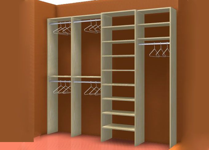 Reach In Closet Layouts For His And Her | His And Her Closet System