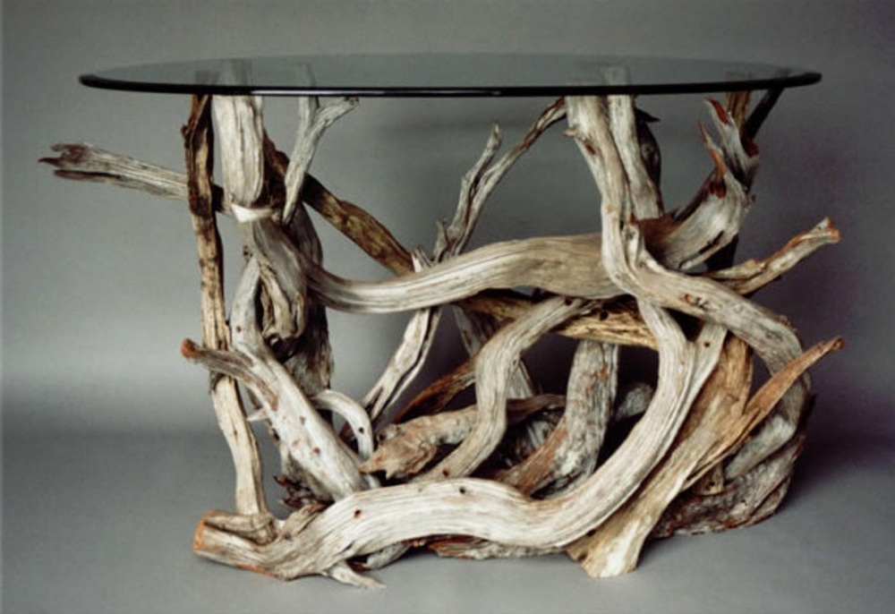 Small Driftwood Dining Table Handmade From Reclaimed Driftwood In
