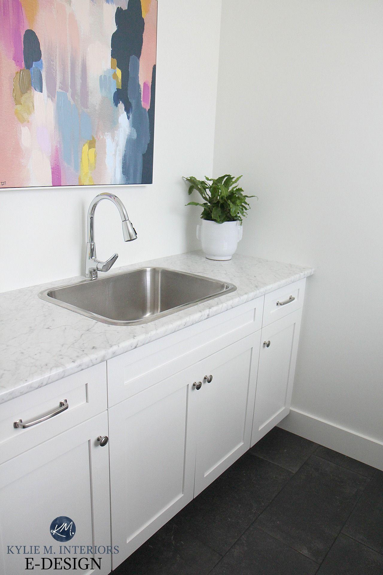 Laundry Room Mudroom With Formica Laminate Countertop Carrara
