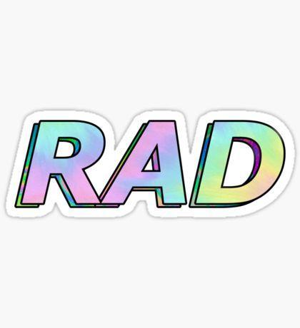 "RAD Sticker Decal 4/"""