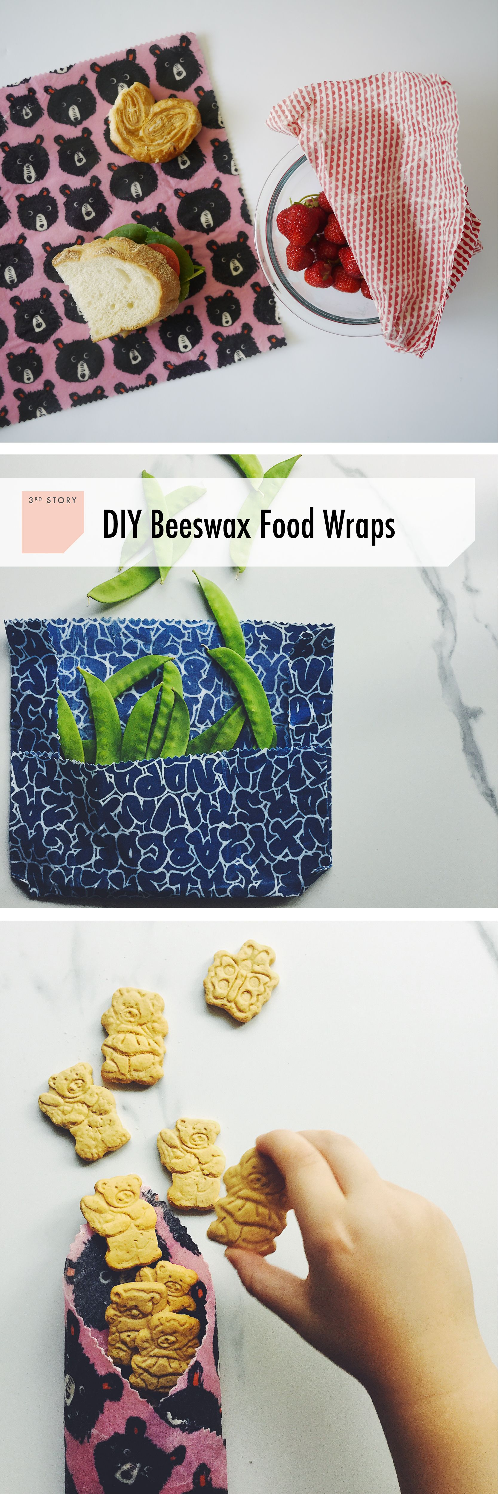 Back to school! DIY reusable beeswax wraps from your