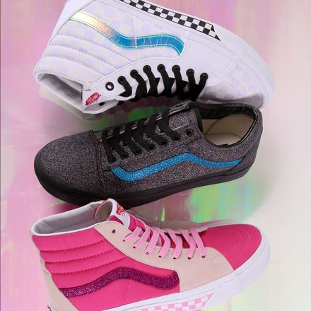 d6fc733623 Earn your stripes. Customize your Vans with new glitter and iridescent  Sidestripe options. Start designing at vans.com customs